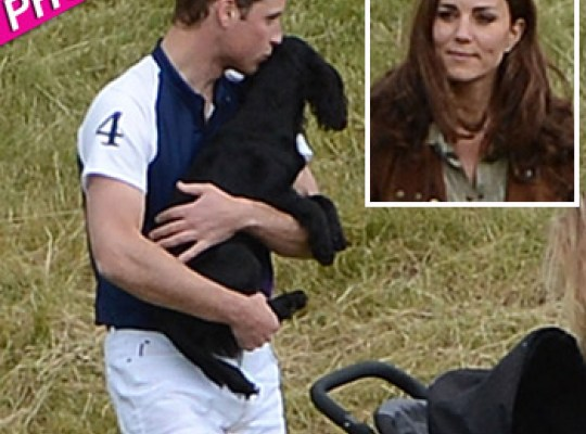 William and Kate mingle with the family at Beaufort Polo Club